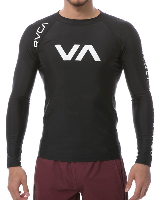 VA SPORT メンズ RVCA L/S コンプレッションウェア ブラック