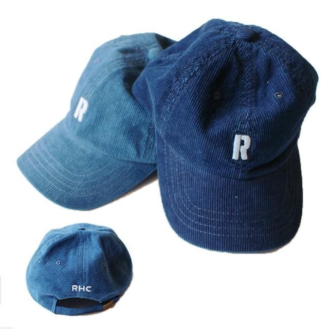 Ron Herman ロンハーマン ロゴ入り帽子 キャップ コーデュロイ素材 インディゴ染め ブルー Indigo Corduroy Cap