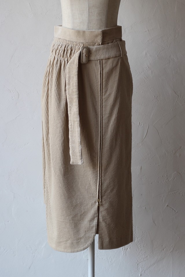 【AKIKOAOKI】lap middle skirt