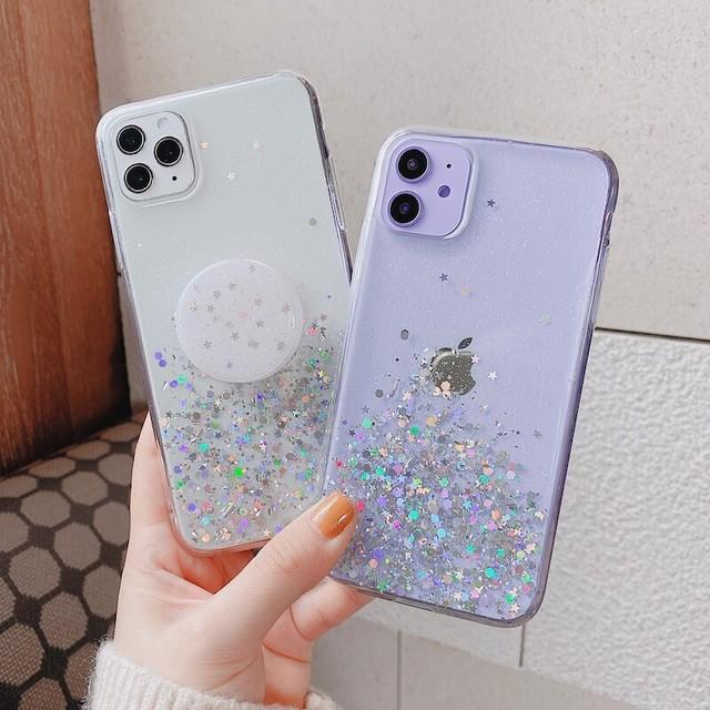 【オーダー商品】グリップ付き Glitter iphone case