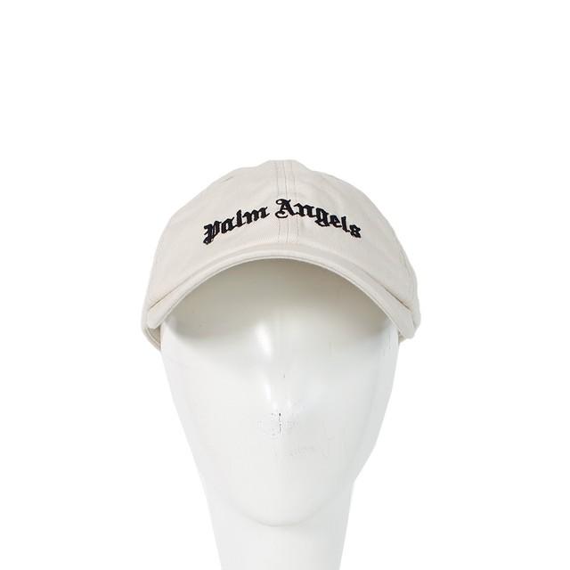 PALM ANGELS Logo Cap Beige Unisex