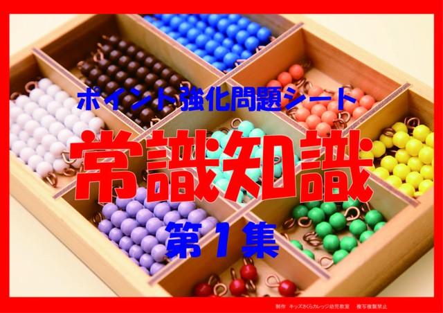 ポイント別強化問題シート「常識知識」第1集 CD付