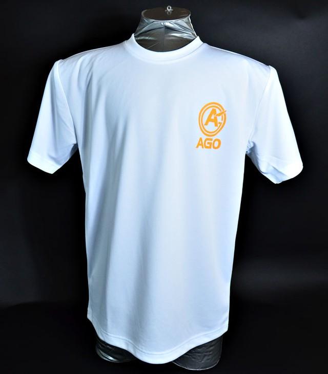 AGOロゴプリント オリジナルドライTシャツ white - メイン画像