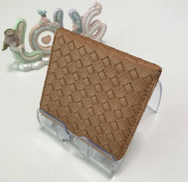 財布 二つ折り財布 折財布 レディース メンズ 男女兼用 PUレザー ブラウン