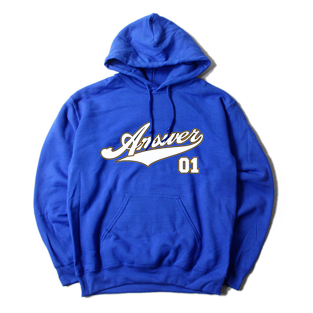 ANSWER COLLECTION / SCRIPT LOGO HOODIE