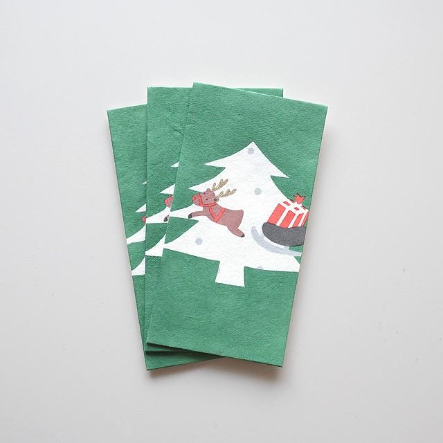 手摺り型染め金封「冬シリーズ」