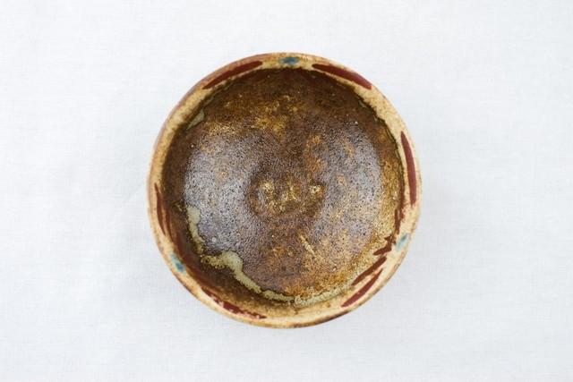 沼田智也 赤絵花文3寸鉢