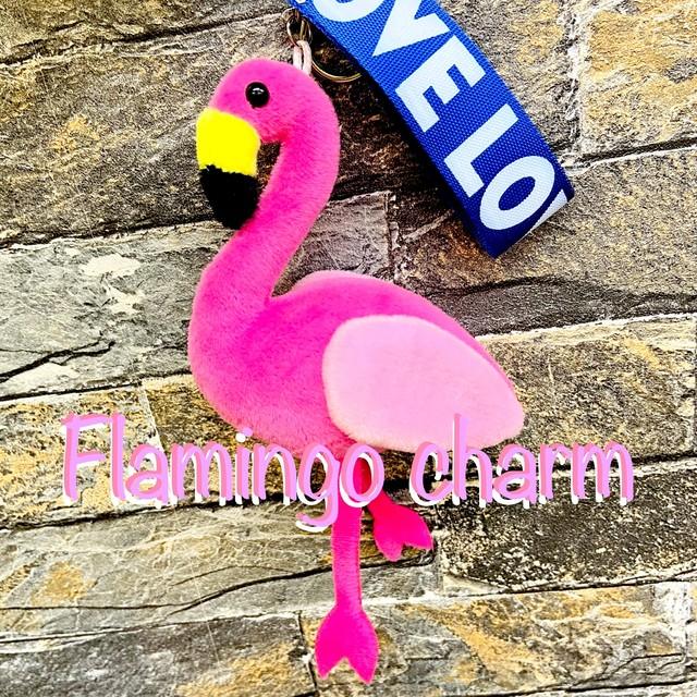 Flamingo charm フラミンゴ キーホルダー チャーム ピンク
