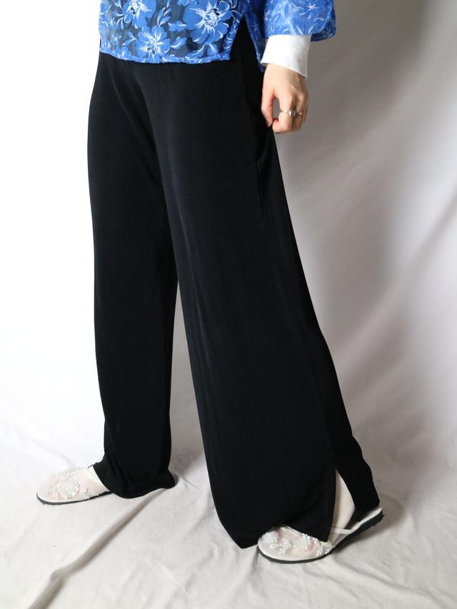 stretch slit slacks 【0761】