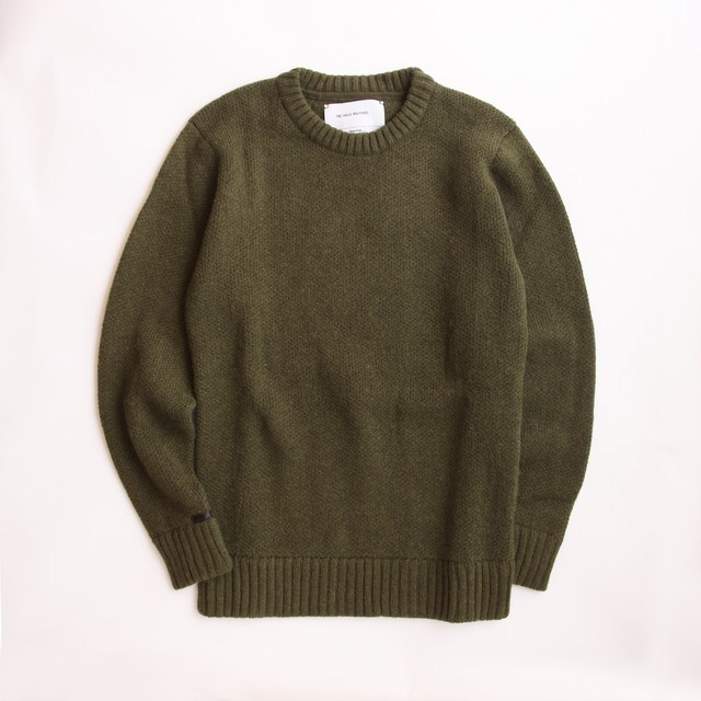 THE INOUE BROTHERS/High Guage/Crew Neck Pullover/Grey