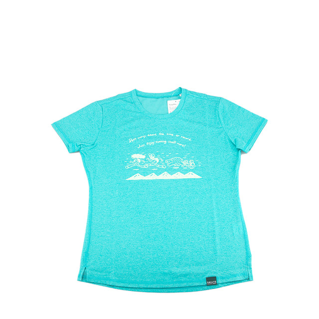 "Women's Tシャツ ""Running"" (グリーン)"