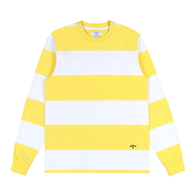 Nautical Rugby Crewneck(White/Lemon)