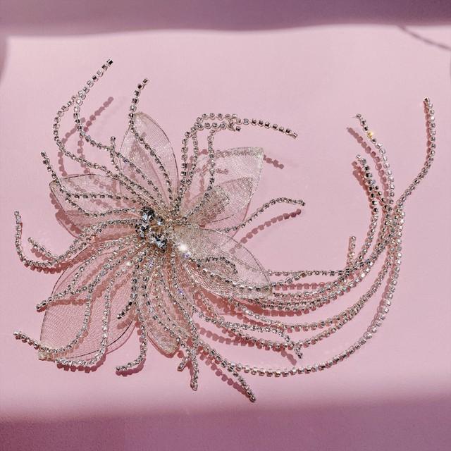 crystal lace フラワーヘッドドレス