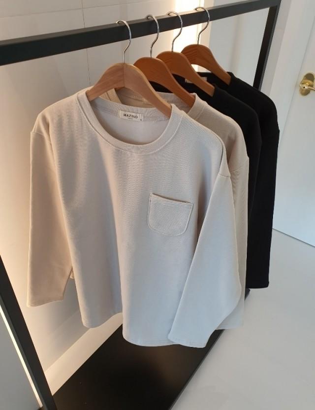 (MENS) 起毛ポケットロングT メンズ  韓国ファッション