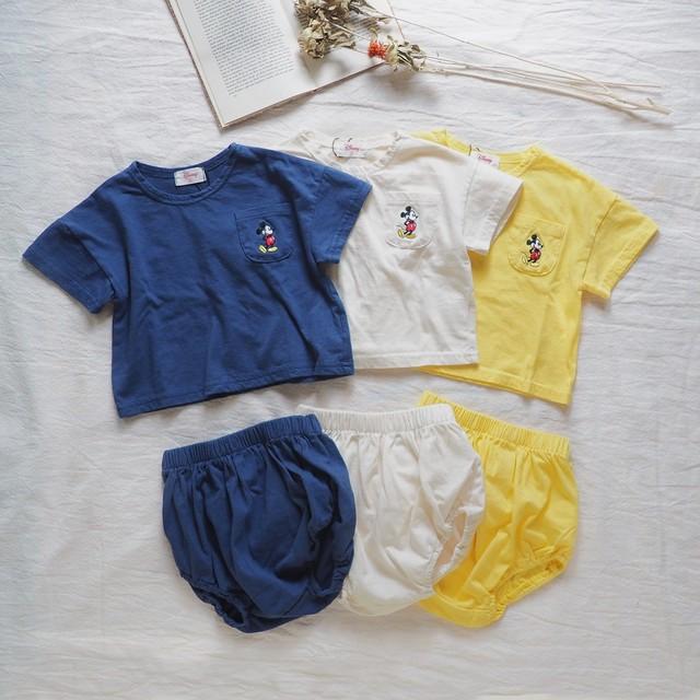 minirobe.mickeyTシャツ+ブルマset[ 70・80 ]
