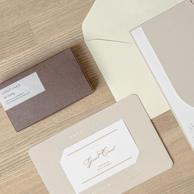【K様専用】ゲストカード台紙メッセージ印刷
