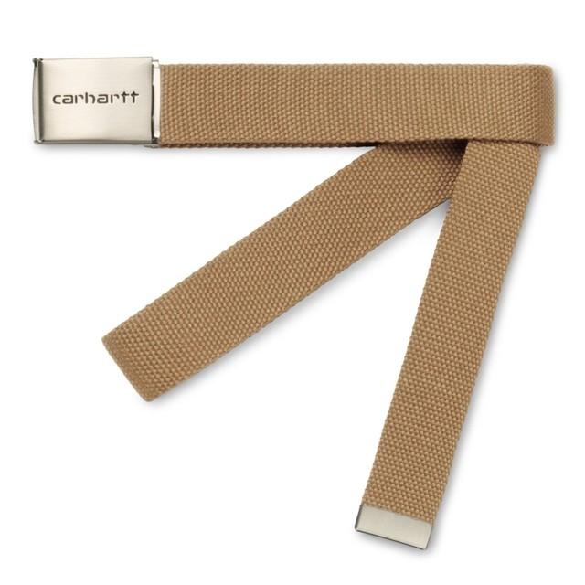 CARHARTT WIP CLIP BELT CHROME LETHR
