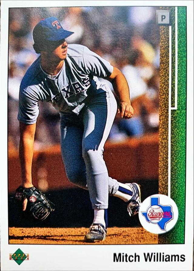 MLBカード 89UPPERDECK Mitch Williamsr #095 RANGERS