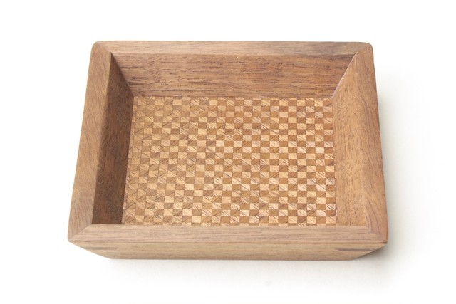 wood checker tray mini Black Walnut ~3mm〼~ 0113