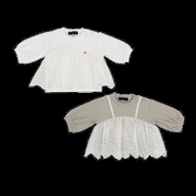 【Little s.t.】 ドッキングTシャツ 綿100% 90〜130cm(A21003-11)