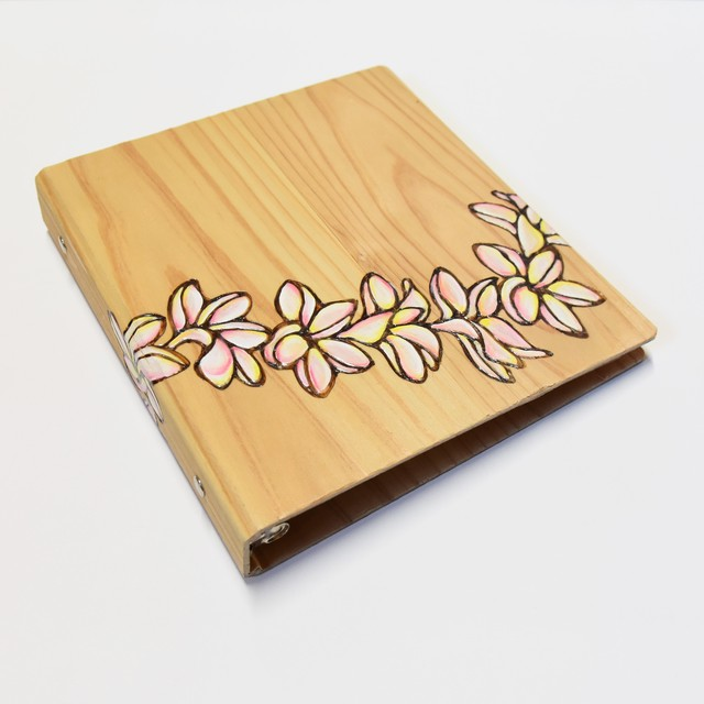 Wood File A5 【Plumeria Heart Lei & Motif】