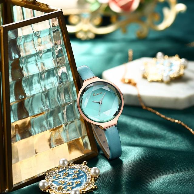 Kimio AF-Z1012 Facet(Aquamarine) 腕時計 レディース