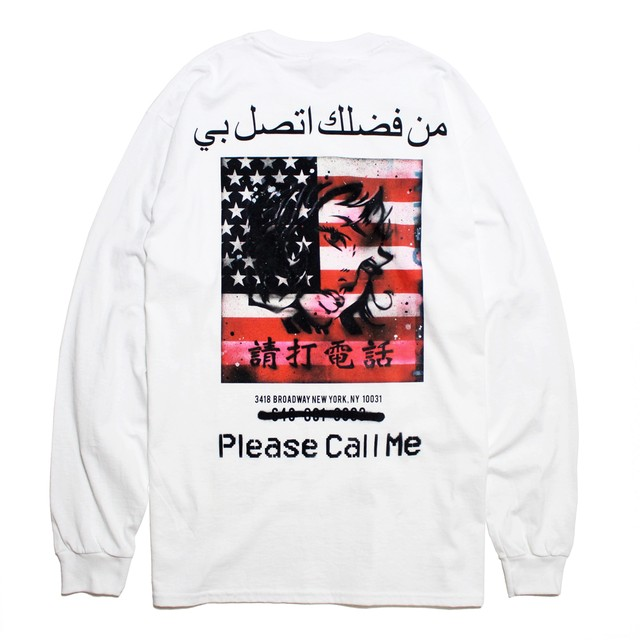 "DESTROYDOG ""Please Call Me"" L/S Tee [WHITE]"