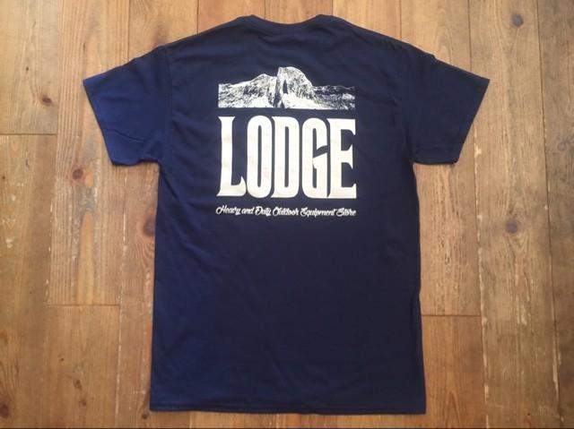 新品 LODGE オリジナルポケットTシャツ ネイビー  Sサイズ