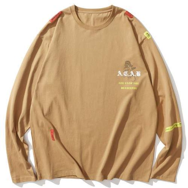 A.C.A.B LABEL TWO COLOR LONG SLEEVED TEE