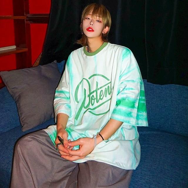 【トップス】ストリート系ファッション半袖タイダイプリントTシャツ48037407