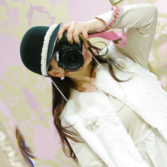 【帽子】パールネックレス付き キャップ