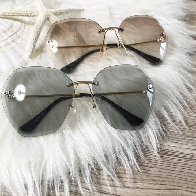 matte cut sunglasses