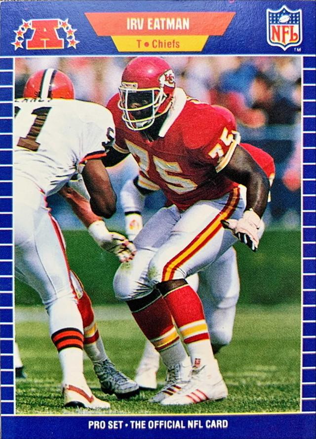 NFLカード 89PROSET IRV EATMAN #170 CHIEFS