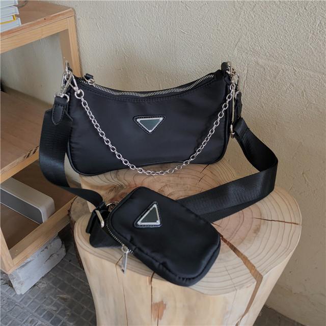 【バッグ】カジュアル幾何模様斜め掛けファスナーバッグ42039133