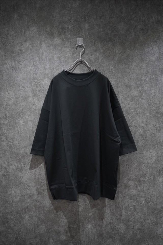 VOAAOV COTTON JERSEY BIG TEE   Black