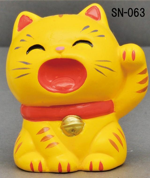 幸せお願い猫 みけ/とら 貯金箱