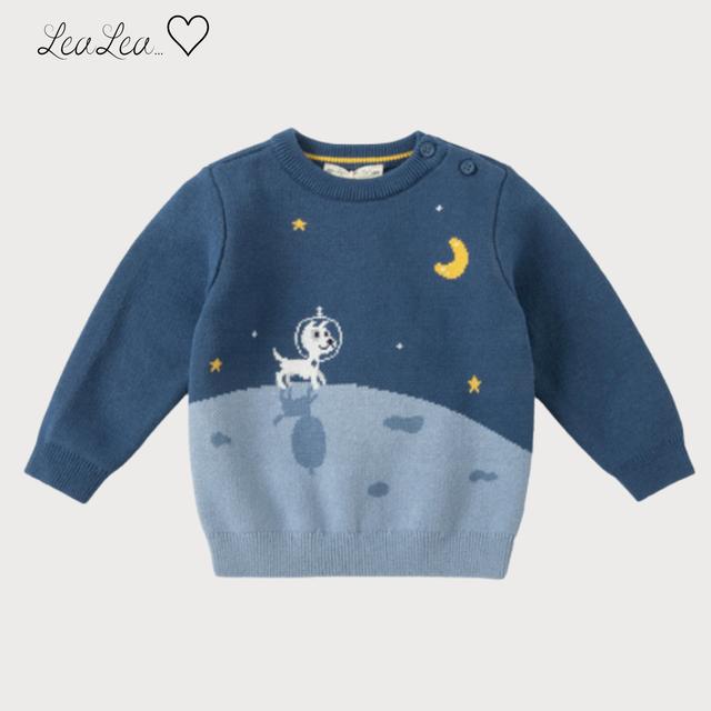dave&bella2021AW新作♡宇宙デザインコットンニットトップス| LeaLea...♡(レアレア)-海外の子供服セレクトショップ
