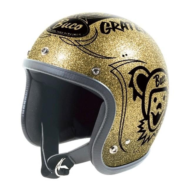 BUCO ヘルメット グレイトフルデッド メタルフレークゴールド ベイビーブコ M/L(58-60)