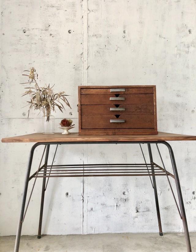 木味の収納ケース[古家具]