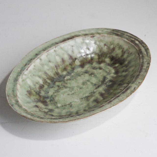 釉彩オーバルリム鉢
