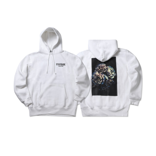 【STAY DUDE COLLECTIVE】Botanical Hoodie (WHITE)