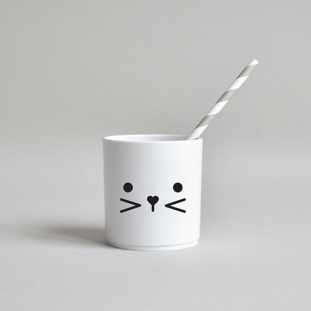 BUDDY+BEAR Bunny Face Tumbler 250ml [white]