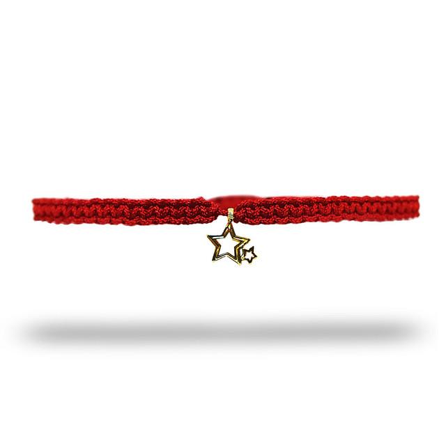 【無料ギフト包装/送料無料/限定】K18 Gold Indian Stella Anklet Red【品番 20S2004】