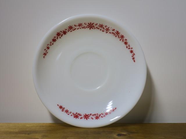 Termocrisa ソーサー 花柄 赤