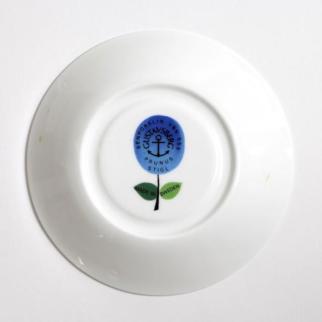 Gustavsberg グスタフスベリ Prunus プルーヌス コーヒーカップ&ソーサー -1 北欧ヴィンテージ