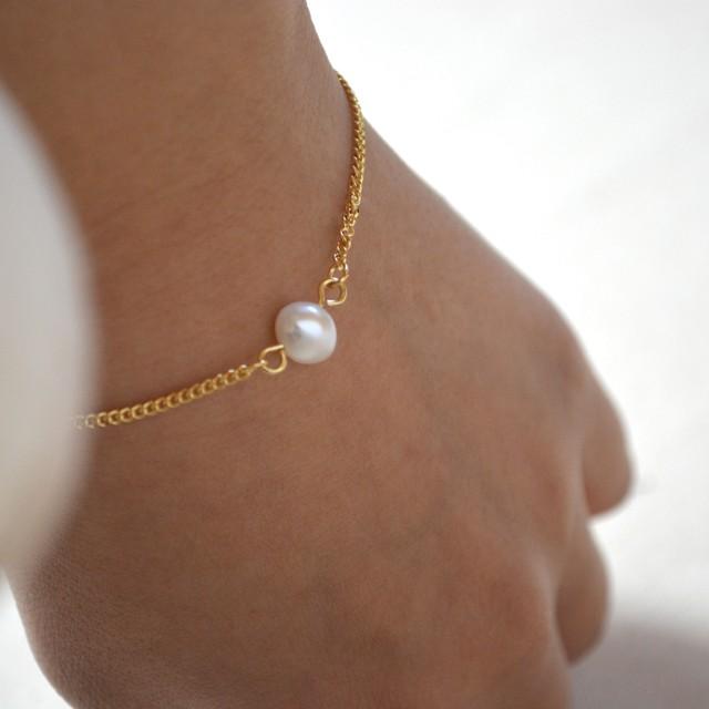 one drop pearl bracelet