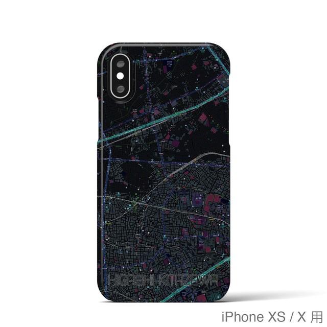 【東北沢】地図柄iPhoneケース(バックカバータイプ・ブラック)