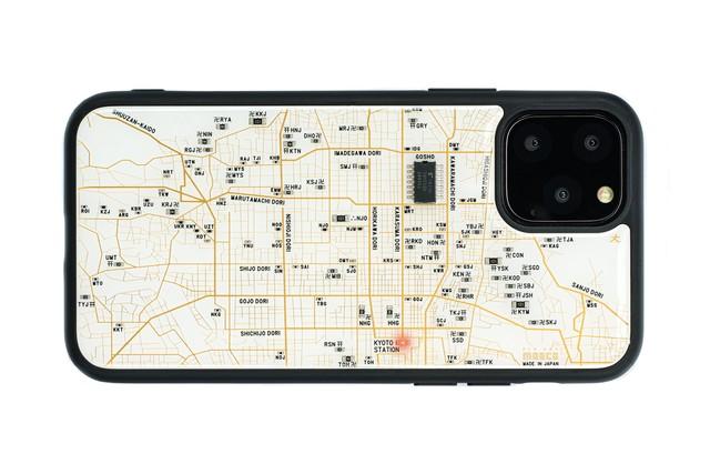 FLASH 京都回路地図 iPhone 12 mini ケース 白【東京回路線図A5クリアファイルをプレゼント】