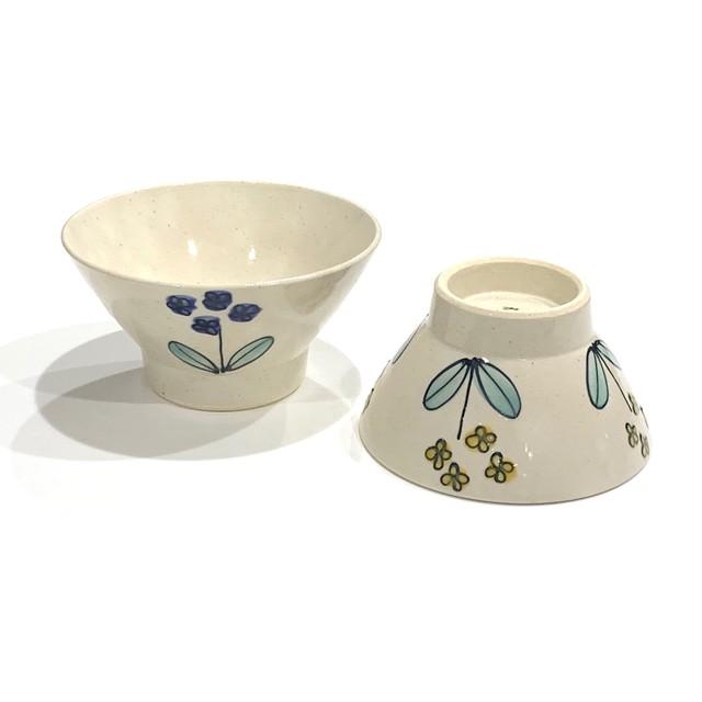 菜の花  ご飯茶碗