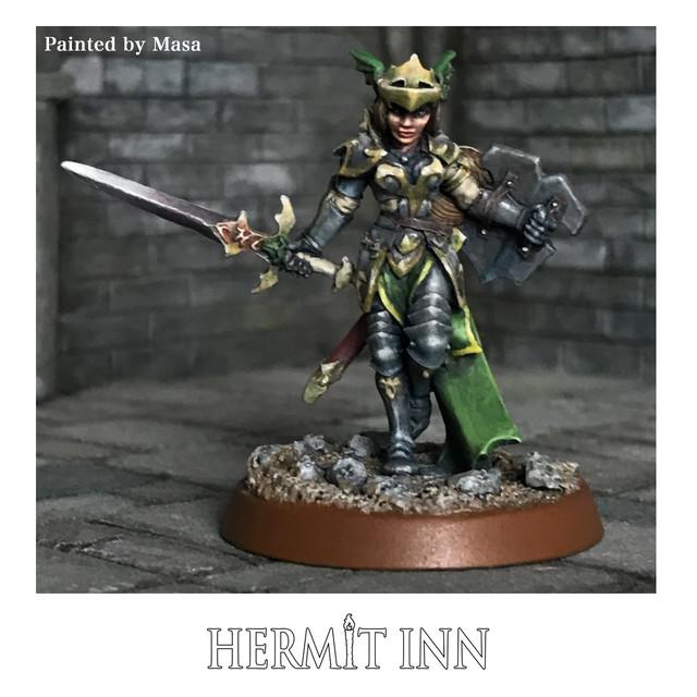 女戦士(剣と盾) - メイン画像